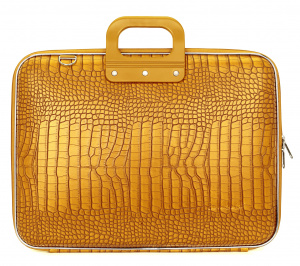 Bombata cocco laptop bag 46.5 x 35 cm artificial leather yellow