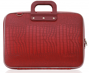 Bombata laptop bag Cocco 43 x 33 cm artificial leather red 2-piece