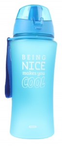 Fresh & Cold bidon being nice makes you cool 480 ml blauw