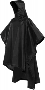 Bramble rain poncho 3-in-1 adult polyester black