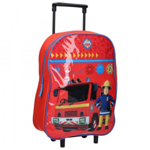 Brandweerman Sam trolley suitcase boys 15 litres polyester red