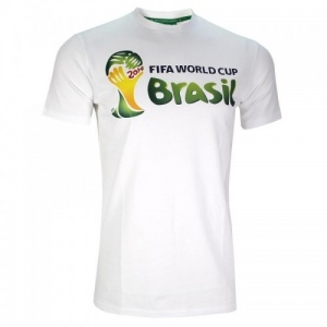 Fifa t-shirt WK 2014 Brasil junior wit