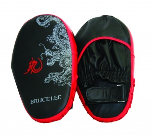 Bruce Lee stootkussens Dragon Coaching Mitts zwart/rood