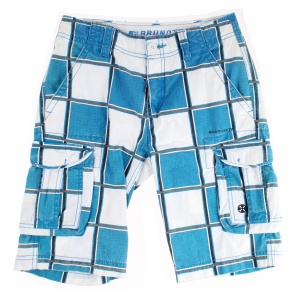 Brunotti short Cordobas Boys junior katoen blauw/wit
