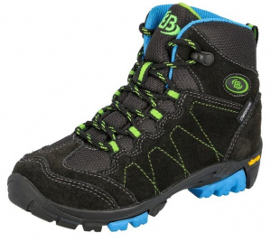 Brütting hiking boot mountains high suede grey/lime