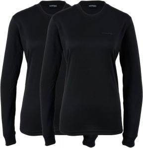 Campri Thermoshirt (2-Pack) dames zwart