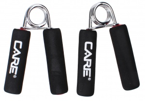 Care Fitness Hand pegs soft grip 2 pieces black