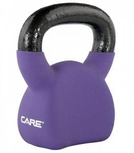 Care Fitness kettlebell 8 kg paars