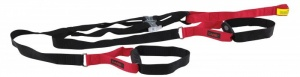 Care Fitness suspension trainer 200 cm zwart/rood