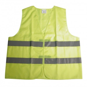Carpoint safety vests familypack fluorine yellow 4 pieces