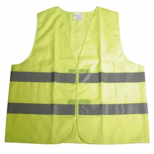 Carpoint safety vest junior yellow one size
