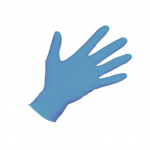 Carpoint disposable gloves Nitrile powdered per 100 blue