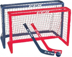 CCM mini hockey set 81 x 53 x 30 cm junior rood/blauw