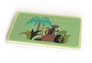 Chic.Mic breakfast board Sweet Life 23,5 x 14,5 cm bamboo green