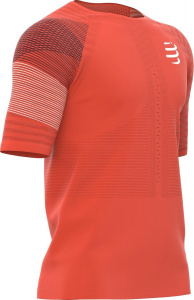 Compressport hardloopshirt Racing SS heren polyester rood