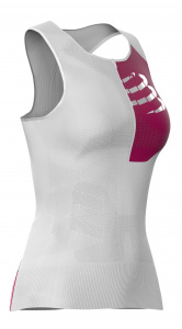 Compressport top postural ultra dames polyamide wit