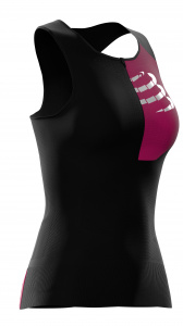 Compressport top postural ultra dames polyamide zwart