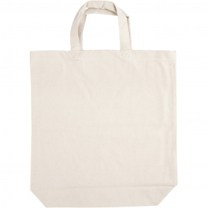 Creative cotton bag with bottom fold 39 x 44 x 10 cm cream