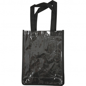 Creative bag with plastic front 30 x 23 x 7 cm black