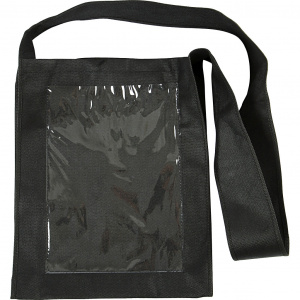 Creative bag with plastic front 40 x 34 x 8 cm black