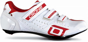 Crono cycling CR4shoes men's carbon white/red