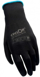 Cyclon working gloves nylon/PU unisex black/blue