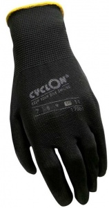 Cyclon working gloves nylon/PU unisex black/yellow