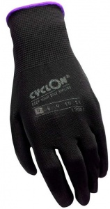 Cyclon working gloves nylon/PU unisex black/purple