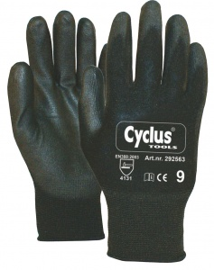 Cyclus work gloves black hand circumference 8