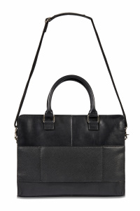 Dal Negro men's laptop bag 40 x 30 cm leather black