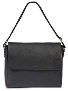 Dal Negro men's shoulder bag 38 x 30 cm leather black
