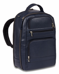 Dal Negro backpack 28 x 40 x 18 cm leather blue