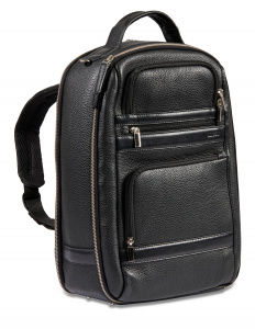 Dal Negro backpack 28 x 40 x 18 cm leather black