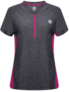 Dare 2B sportshirt Outdare II dames polyester grijs/roze