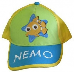 Disney Baseball Cap Nemo Yellow Green Blue Size 46/50