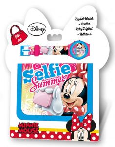 Disney watch and wallet Minnie Mouse junior 2-piece