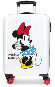 Disney kinderkoffer Minnie Magic 55 cm ABS 33 liter wit/rood