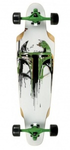 Disney longboard Star Wars Dropped Boba wit/groen 79 cm