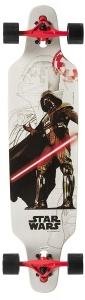 Disney longboard Star Wars The Machine 96 cm wit/rood