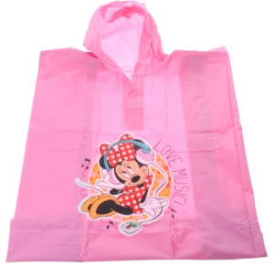 Disney regenponcho Minnie Mouse meisjes one size roze
