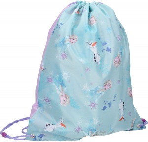 Disney sac de sport Frozen II Crystalized 44 x 37 cm bleu clair