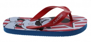Disney Flip Flops Mickey Mouse Junior blau / rot