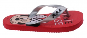 Disney flip-flops Minnie Mouse girls red / silver