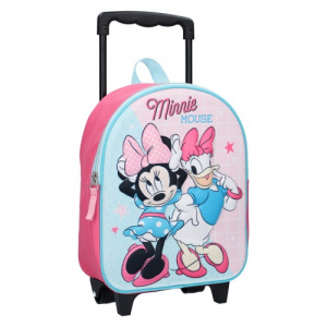 Disney trolley rugzak Minnie Mouse 3D junior 9 liter polyester blauw/roze