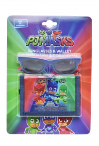 Disney sunglasses wallet PJ Masks junior blue 2-piece