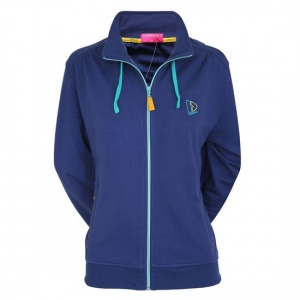 Donnay sweater met rits dames donkerblauw