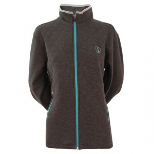 Donnay sweater met rits dames donkergrijs