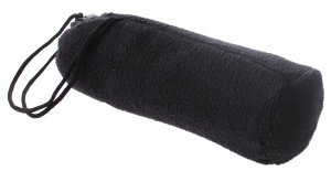 Dunlop sports towel black in bag 80 x 40 cm