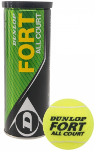 Dunlop tennisbal Fort All Court rubber/vilt geel 4 stuks