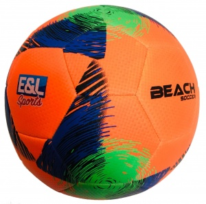E&L Sports beach Football orange/blau Größe 5
